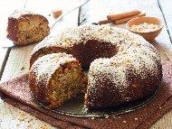 Лесен постен коледен сладкиш (кекс) с ябълки, орехи и канела (без яйца и мляко)
